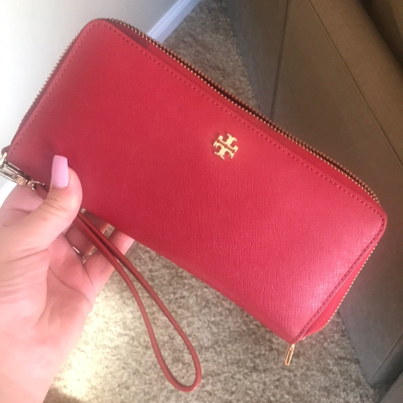 Tory Burch Handbags - Red Tory Burch Wallet